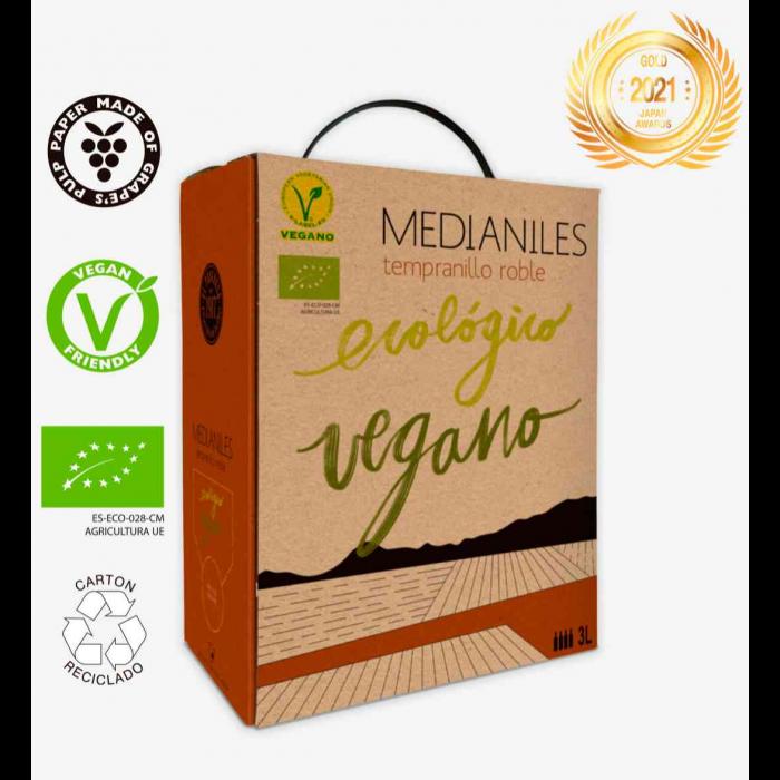 Medianiles Tempranillo Roble Bag in Box 3 L (Lote de 3 unidades)
