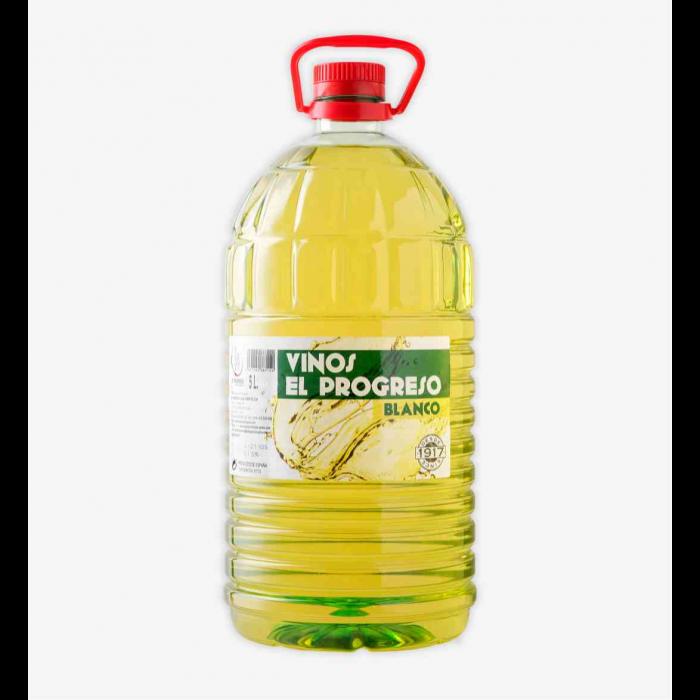 El Progreso Garrafa Vino Blanco 5 litros (3 unidades)