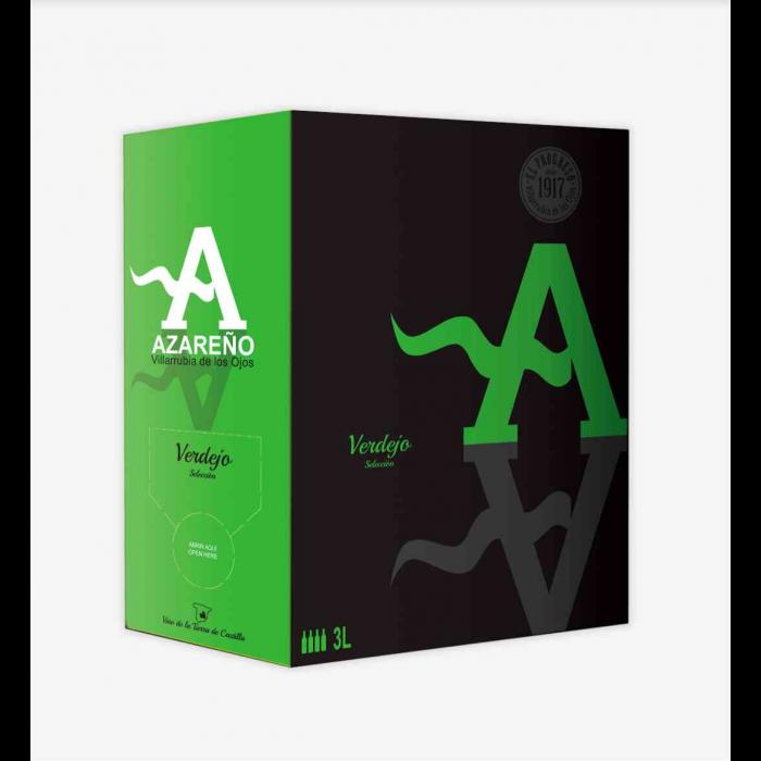 AZAREÑO 100% Verdejo, Bag in Box 3 Litros (Lote de 3 Unidades)